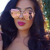 Cat Eye Retro Sunglasses - Sunglasses
