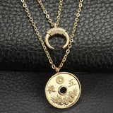 Charms Coin Pendant Necklace - Necklace