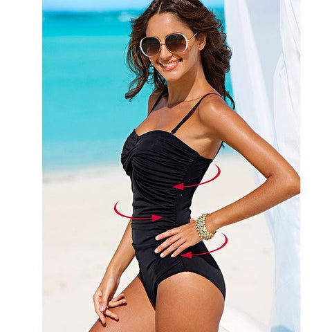 Classic Vintage One Piece Swimsuit - Swimsuit