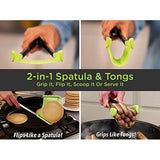 Clever Silicone Kitchen Spatula and Tongs - Kitchen