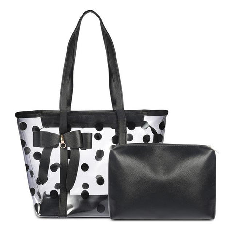 Cute 2 in 1 Polka Dot Handbag - Handbag