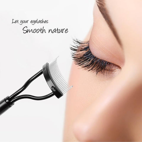 Easy-To-Use, Simple Metal Eyelash Comb - Eyelash Curler