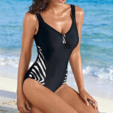 Elegant, Simple One Piece Swimsuit For Women - Swimsuit