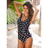 Elegantly Stunning One Piece Swimming Suit - Swimsuit