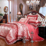 Fashionable Pink Floral Bedding Set - Bedding Sets