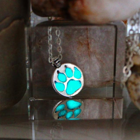 Glow In the Dark Paw Necklace - Necklace