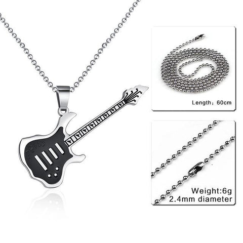 Guitar Pendant Necklace For Music Lovers - Necklace