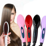 Hair Straightener Electric Heated Hair Brush - hair straightener