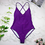 High Cut One Piece Swimsuit - Swimsuit