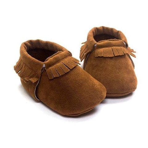 Newborn Baby Shoes Leather Moccasins - Shoes