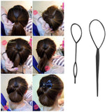 Plastic Pull Hair Pin Ponytail Maker Clip - Pull Hair Tool