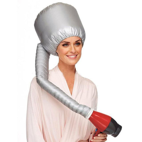 Portable Hood Hair Dryer Cap Attachment - hair curler