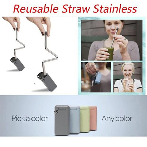 Reusable Stainless Steel Straw - Straw