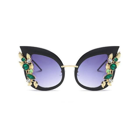 Rhinestone Cat Eye Sunglasses - Sunglasses