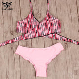 Sexy 2-Piece Cross Brazilian Bikini For Women - Swimsuit