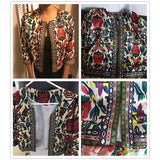 Vintage Embroidery Jacket For Women - Jacket