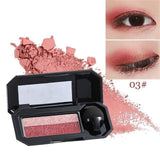 Waterproof Double Color Glitter Eyeshadow Palette - Makeup