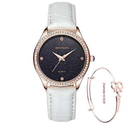 Waterproof Leather Watch For Women - Watch