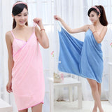 Wearable Women Cotton Bathrobe - Bath