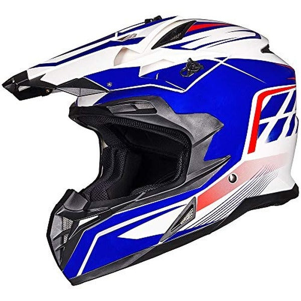 ILM Off Road Motorcycle Dual Sport Helmet Full Face Sun Visor Dirt Bike ATV Motocross DOT Approved Visor, Black