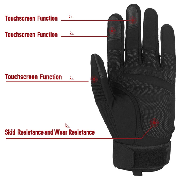 ILM Tactical Gloves Men Touchscreen - Military Mechanic Hunting Shooting Combat Airsoft Heavy Duty Knuckle Gloves Motorcycle Cycling ATV MTV