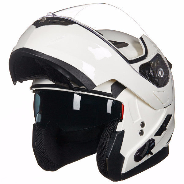 ILM Stealth Bluetooth Motorcycle Helmet Modular Flip up With Sun Shield