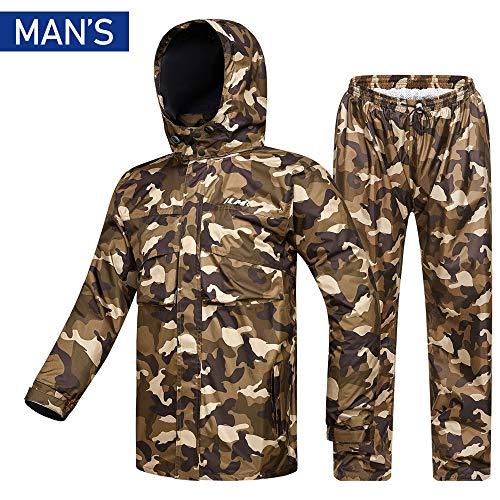 ILM Motorcycle Rain Suit Waterproof Wear  2 Piece Set with Jacket and Pants for Man And Women