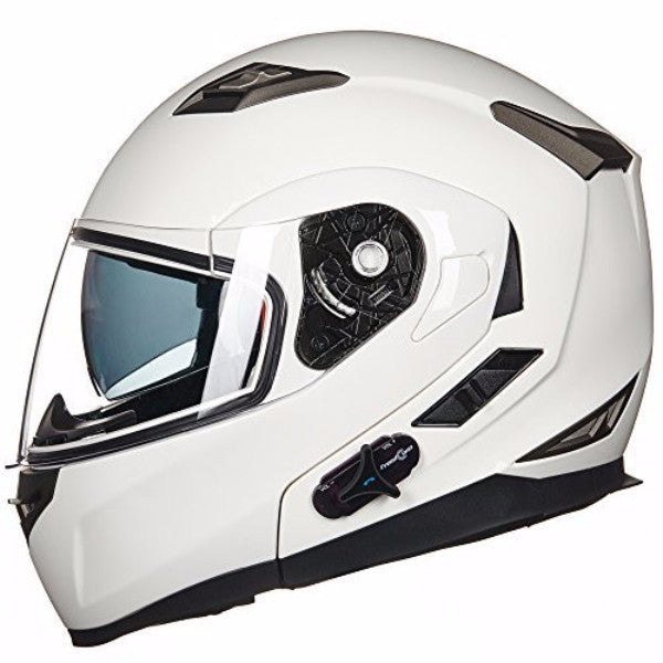 white bluetooth helmet