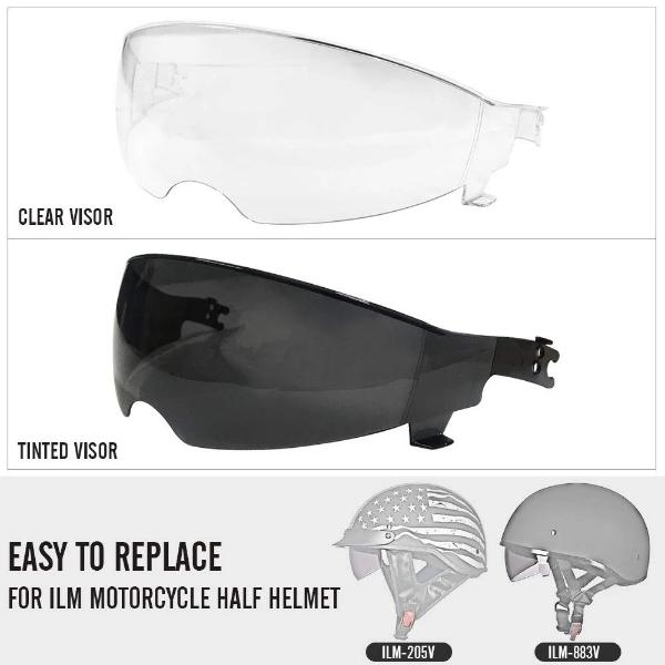 REPLACEMENT FACE SHIELD VISOR FOR ILM 205V&883V HELMET