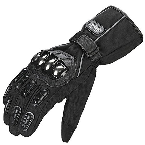 ILM Alloy Steel Motorcycle Riding Gloves Warm Waterproof Windproof for Winter Use