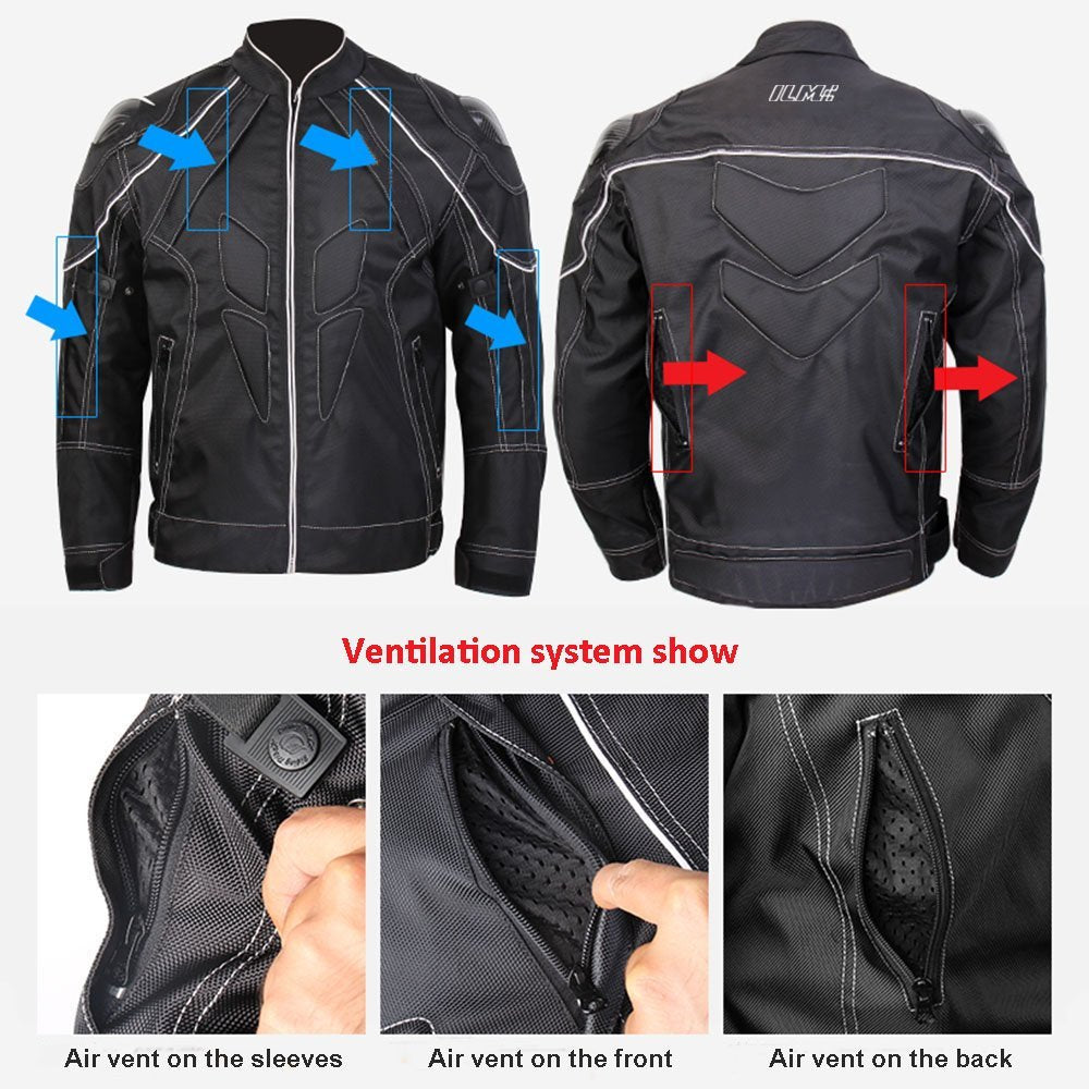 ILM Motorcycle Jackets, Carbon Fiber Armor Shoulder, Moto Jacket for Men and Women