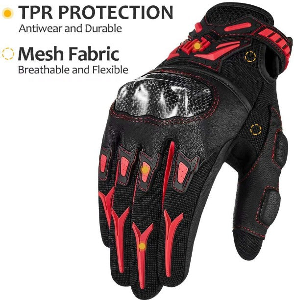 ILM Motorcycle Motocross Cycling Off-Road Dirt Bike Gloves for Men Women Touchscreen Hard Knuckle ATV MTB Guantes