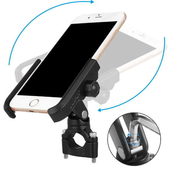 Cell Phone Holder for Bike Motorcycle Phone Mount Fits iPhone X 8//8 Plus 7//7 Plus iPhone 6s//6s Plus Galaxy S7 S6 S5 Holds Phones Up to 4 Wide