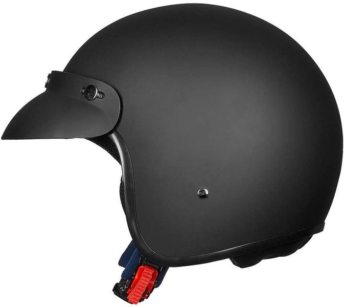 ILM 3/4 Open Face Motorcycle Helmet DOT Approved Retro Half Casco Fit Men Women ATV Moped Scooter Cruiser