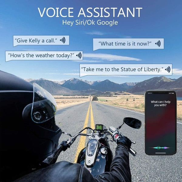 ILM Motorcycle Bluetooth Headset 6 Riders 1000M Helmet Communication Intercom System Hard Cabel Mic Speakers with FM Radio for Motocross Motor Bike Skiing