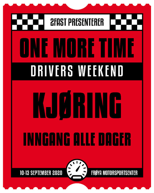 OneMoreTime Drivers Weekend sjåfør