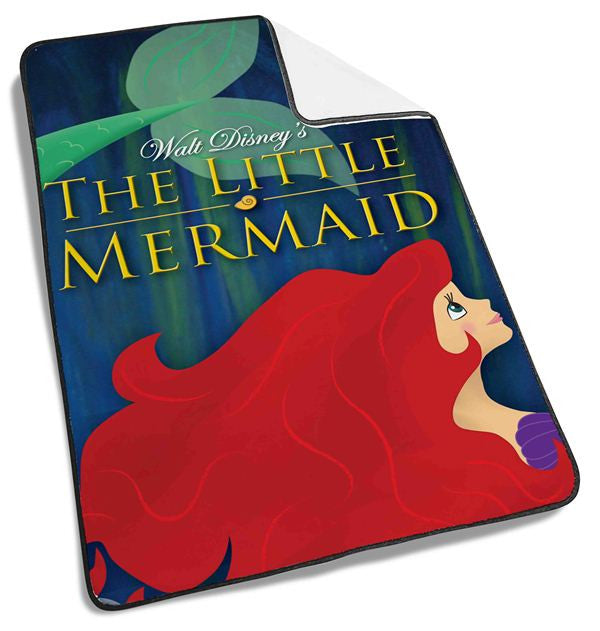 Ariel Little Mermaid on Galaxy Blanket