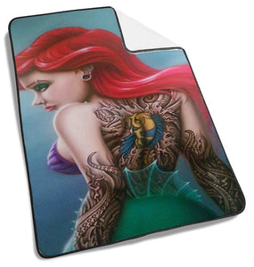 Ariel The Little Mermaid Sexy Tatto Blanket