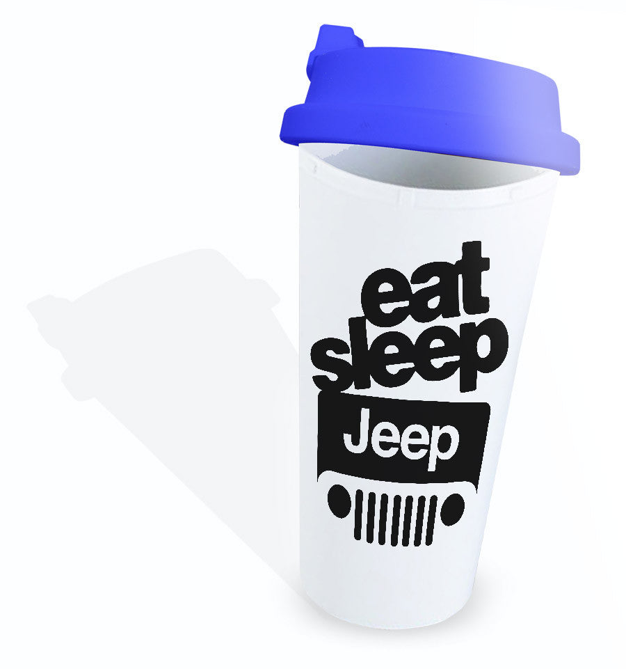 Jeep Quotes Eat Sleep Wrangler Jeep Quotes Plastic Mug  Cushiongift