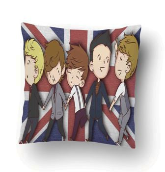 1D One Direction Funny Cartoon Pillow Cover