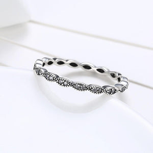 Sterling Silver Pandora Inspired Simple Braided Twist Ring - RimeArodaky