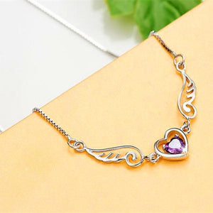 Women's Fashion Necklace Dream Angel Love Heart Necklace - RimeArodaky
