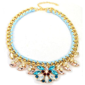 Fashion Nacklace Exaggeration Alloy Diamante Multilayer Sennit Sexy Jewelry - RimeArodaky