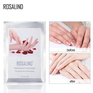 ROSALIND Exfoliating Hands Mask 2PC=1Pair Hand Care Moisturizing Spa Gloves Whitening Hand Cream Hand Scrub Remove Dead Skin - RimeArodaky
