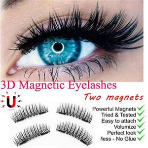 3D Double Magnetic False Eyelashes With Magnetic Hairy Eyelashes - RimeArodaky