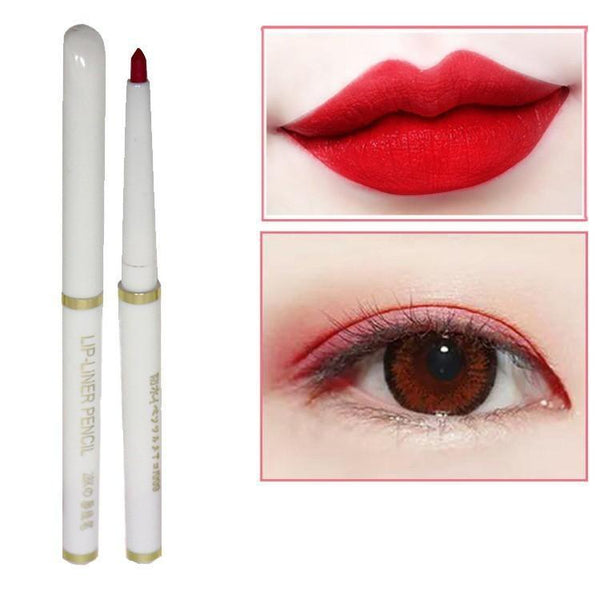 Lip Liner Automatic Rotation Waterproof Sumi Lip Pencil Eyebrow Pencil Eye Liner - RimeArodaky