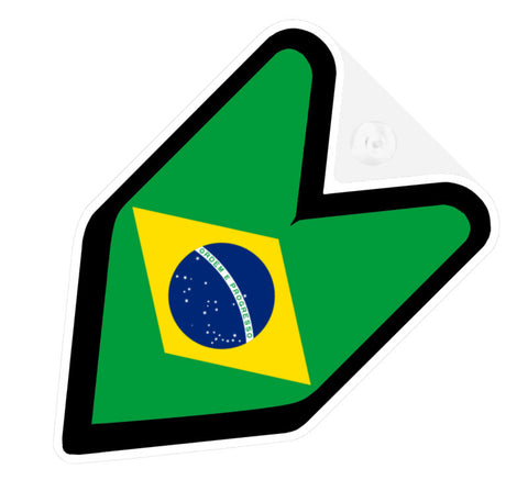 Brazilian Flag JDM Decal Badge