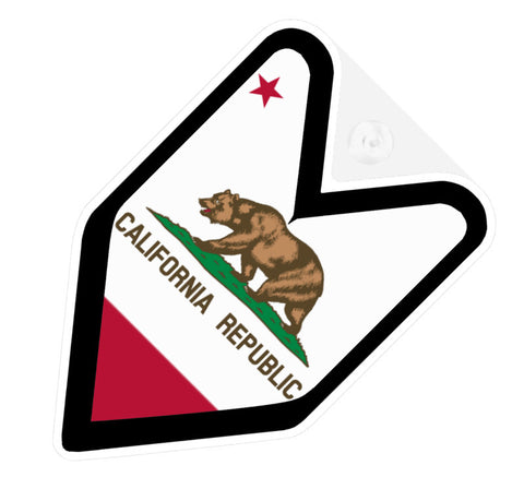 Californian Flag JDM Decal Badge