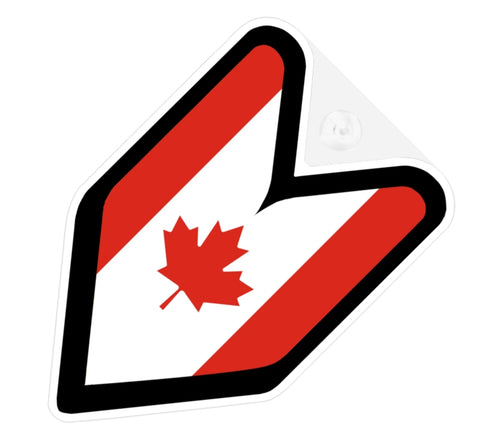 Canada Flag JDM Decal Badge