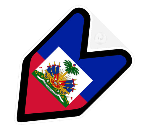 Haitian Flag JDM Decal Badge